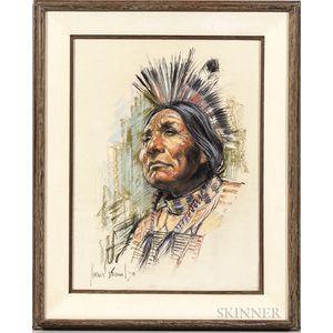 Harley Brown (Canadian, b. 1939)      Bearlodge, Blackfoot