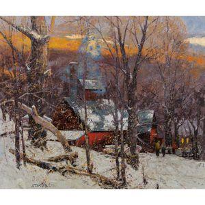 John Charles Terelak (American, b. 1942)      Winter Landscape
