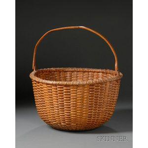 Large Round Nantucket Basket