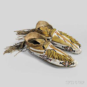 Southern Cheyenne Beaded Hide Man