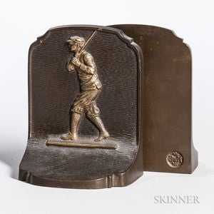 Pair of Golfer Bookends