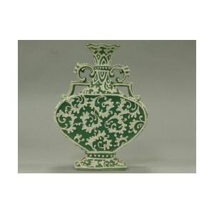Japanese Moriageware Porcelain Vase.