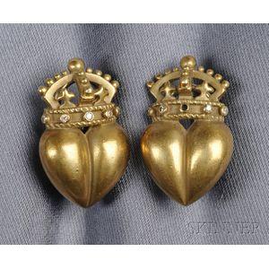 18kt Gold and Diamond Earclips, Kieselstein-Cord