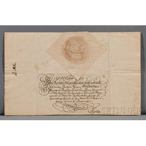 Augustus III of Poland (1696-1763) Signed Letter and Envelope.