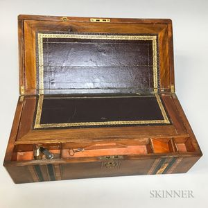 Chinese Export Exotic Wood Inlaid Lap Desk