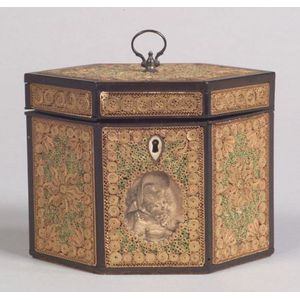 Georgian Paper Filigree Tea Caddy