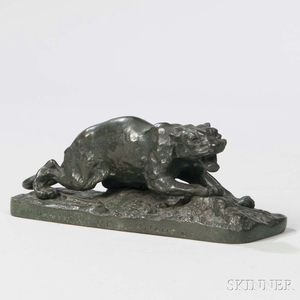 After Pierre-Jules Mene (French, 1810-1879)      Bronze Model of a Panther