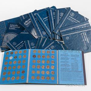 Seventeen Partial Whitman Coin Albums