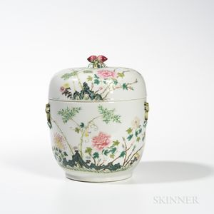 Famille Rose Covered Jar
