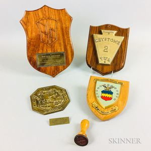 Group of Military Unit Plaques