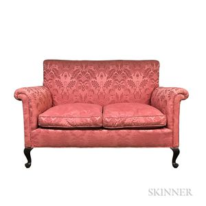 Queen Anne-style Upholstered Settee