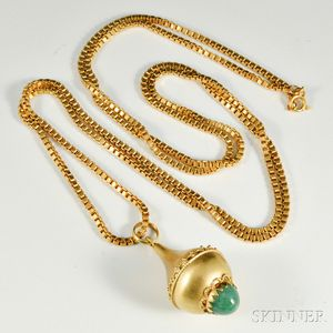 18kt Gold and Hardstone Necklace