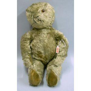 English Light Beige Mohair Teddy Bear