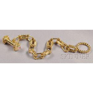18kt Gold and Pink Tourmaline Bracelet, Esti Frederica