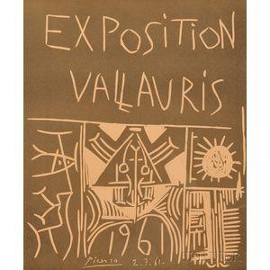 Pablo Picasso (Spanish, 1881-1973)      Exposition Vallauris, 1961