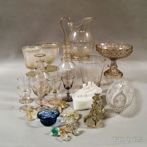 Seventeen Pieces of Colorless Glass