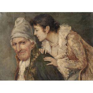 Attributed to Francesco Vinea (Italian, 1845-1902)      The Whispered Secret