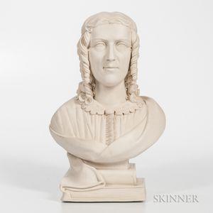 Parian Bust of Harriet Beecher Stowe