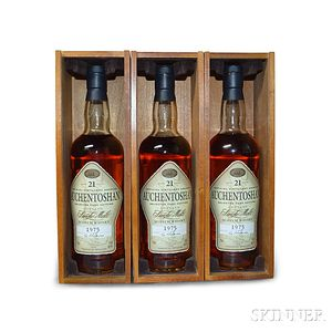Auchentoshan 21 Years Old 1975, 3 750ml bottles (owc)