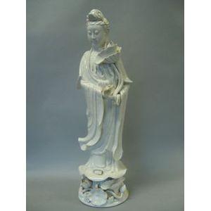 Blanc de Chine Figure of Kuan Yin.