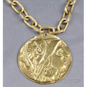 18kt Gold Pendant, Van Cleef & Arpels