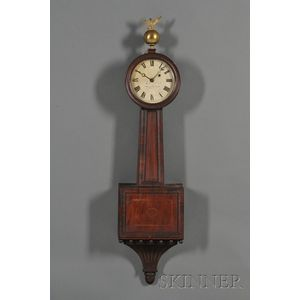 Federal Mahogany Inlaid Patent Timepiece