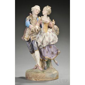 German Bisque Figural Group