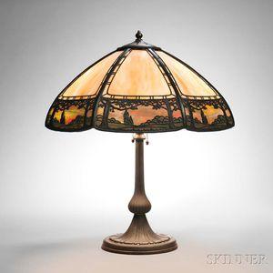 Handel Metal Overlay Table Lamp