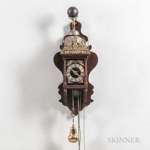 Dutch Zaandam Rosewood Wall Clock