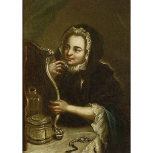 Continental School, 18th Century Style  At Her Toilette.