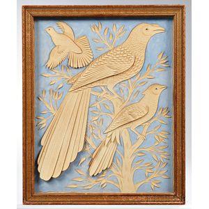 Framed Cutwork Picture of Birds