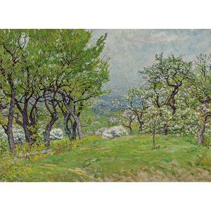 John Joseph Enneking (American, 1841-1916)      Apple Blossoms