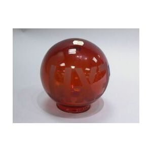 Red Glass Exit Light Globe