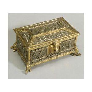 German Patinated Metal Renaissance Revival Cigarette Box