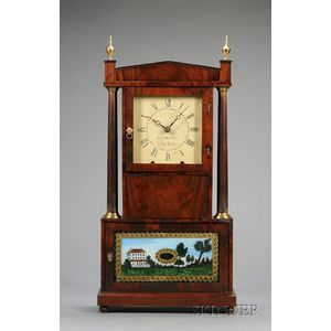 Mahogany Shelf Clock by Olmstead & Barnes