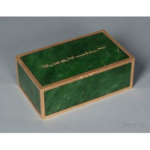 Cartier Nephrite Jade and Yellow Gold Dresser Box