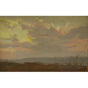 Robert Moore Kulicke (American, 1924-2007)      Sunset at New Paltz