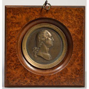 Washington before Boston  , Bronze Medal by Pierre Duvivier, 19th Century.