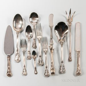 "Gorham ""Chantilly"" Pattern Sterling Silver Flatware Service"