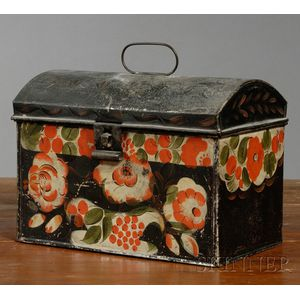 Paint-decorated Tinware Box