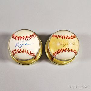 Two Autographed Baseballs