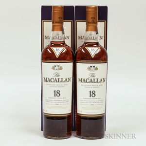 Macallan 18 Years Old, 2 750ml bottles (oc)