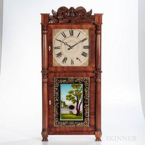 Ephraim Downs Eight-day Carved Splat Shelf Clock