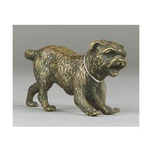 Continental Bronze Figure of a Terrier