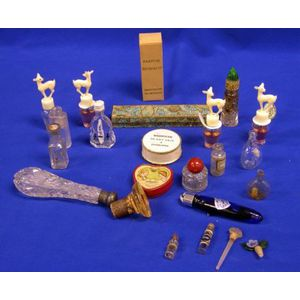 Collection of Perfume, Scent Bottles and Cosmetic Containers.