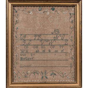 "Needlework Sampler ""Mary Morgan,"""