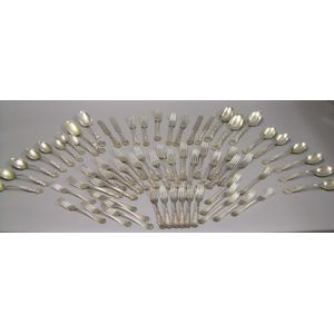 Group of Small Sterling Silver and Silver Plated Flatware Sets