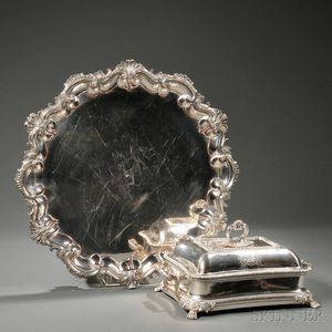 Two Pieces of Victorian Silver-plated Hollowware