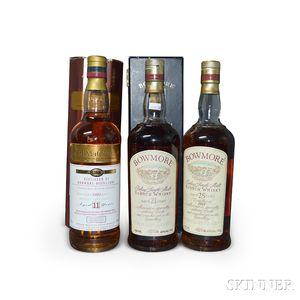 Mixed Bowmore, 3 750ml bottles