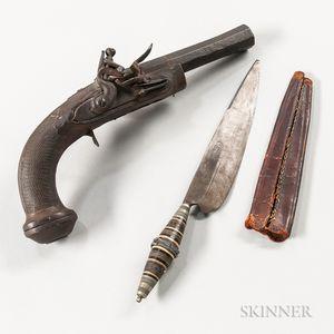 Flintlock Pistol and a Knife